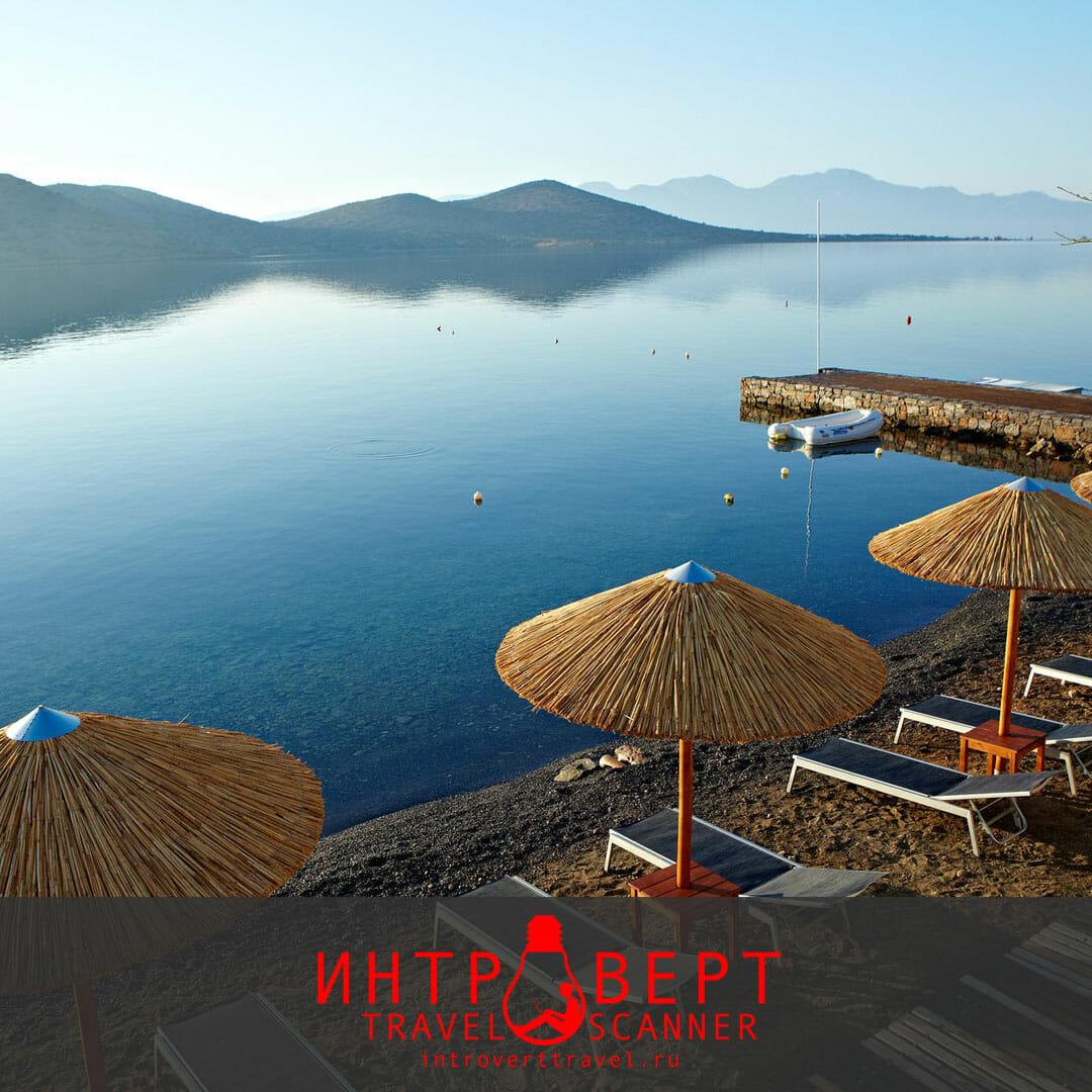 пляж Элунда на Крите (Греция)