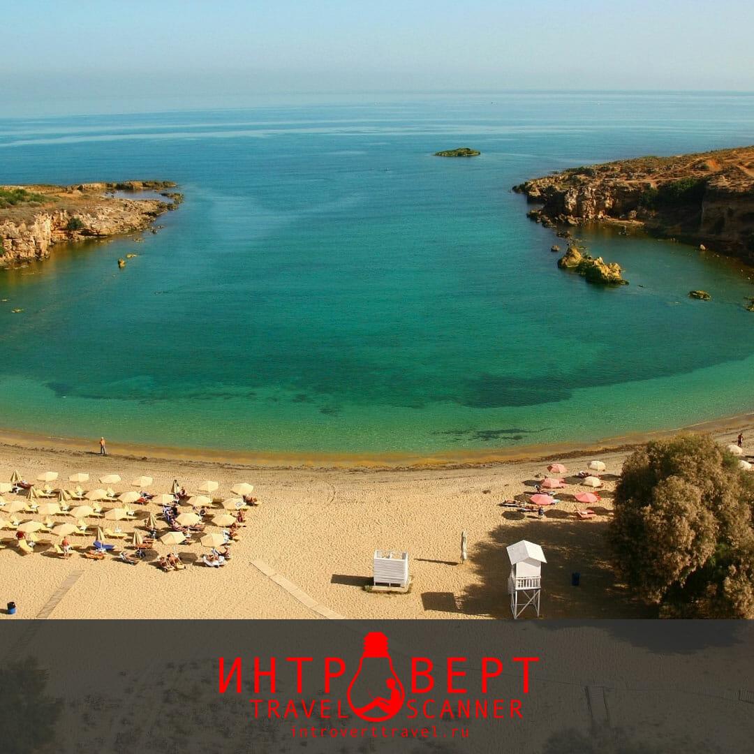 пляж Агии Апостоли на Крите (Греция)