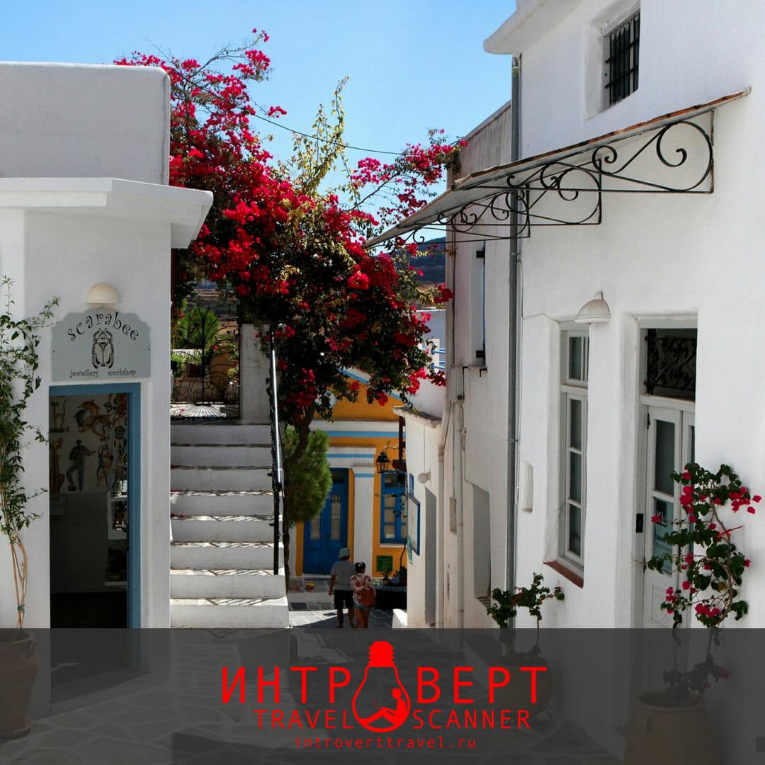 Деревня Лефкес, остров Парос (Греция)