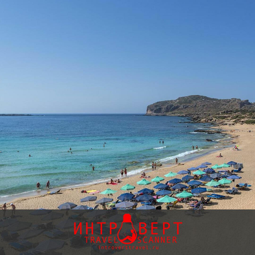 Пляж Фалассарна на Крите (Греция)