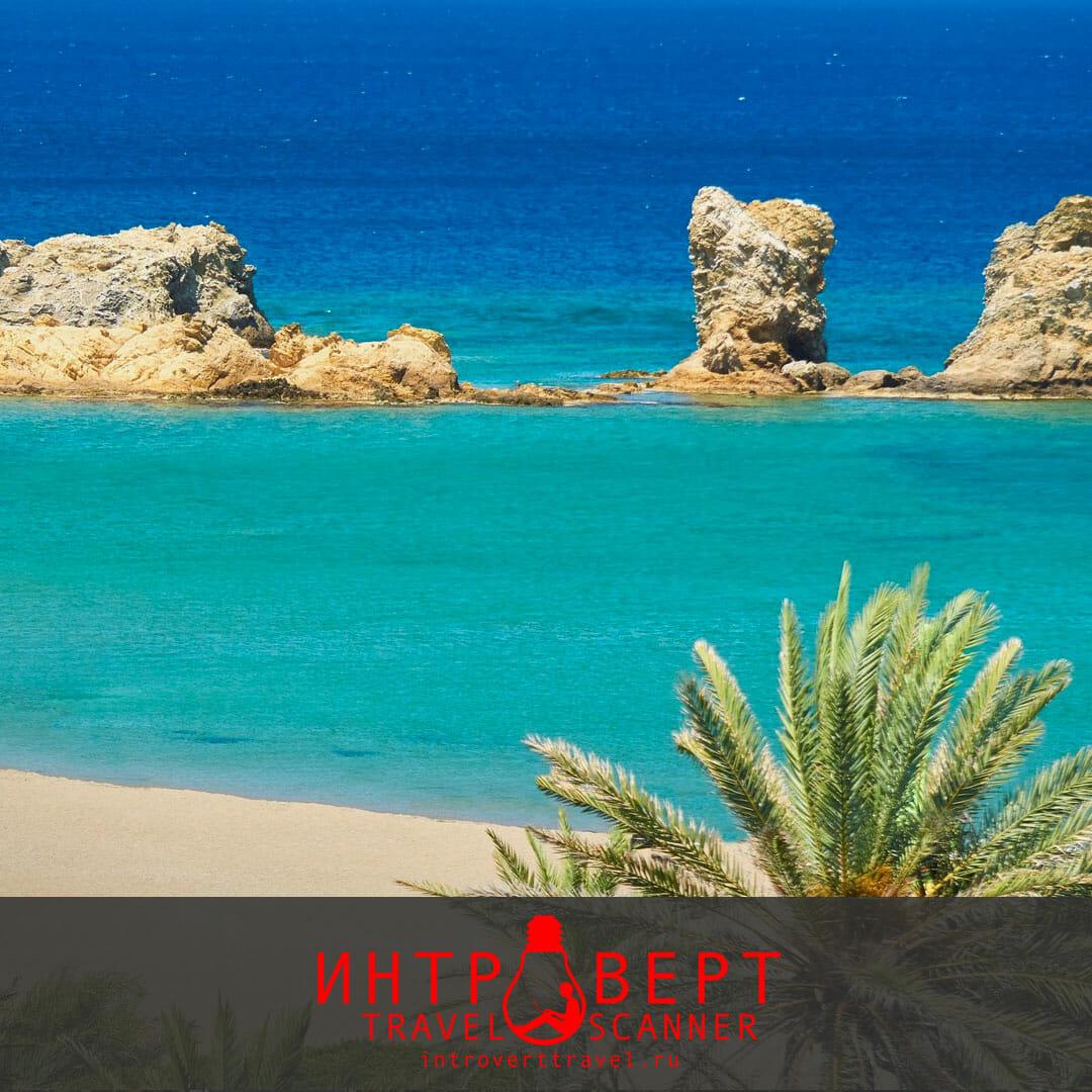 пляж Ваи на Крите (Греция)